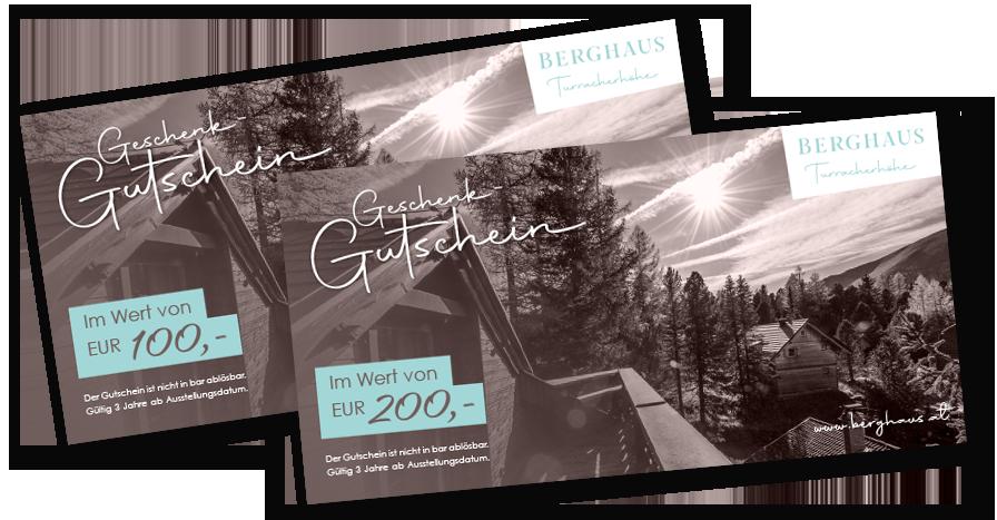 Geschenk-Gutscheine vom Berghaus Turracherhöhe